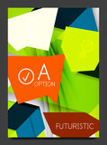 Abstract modern flyer - brochure template Stock Photos