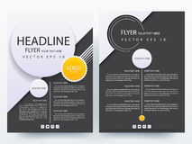 Abstract  modern flyers brochure design templates Stock Photos