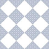 Abstract modern fractal white and blue seameless pattern. stock illustration