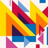 Abstract modern geometric background. Composition 20. Colorful abstract geometric background with overlapping geometric shapes Stock Illustration