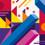 Abstract modern geometric background. Composition 17. Colorful abstract geometric background with overlapping geometric shapes Stock Photography