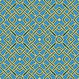 Modern geometric seamless pattern of blue and yellow shades. Abstract modern geometric seamless pattern of blue and yellow shades royalty free illustration