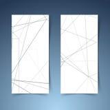 Abstract modern geometrical hi-tech banner set Stock Image