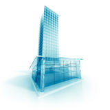 Abstract Modern Glass Design Building Royalty Free Stock Photos