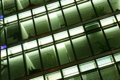 Abstract modern glass facade Stock Image