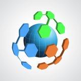 Abstract modern globe  logo design template. Creat Royalty Free Stock Photo