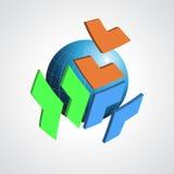 Abstract modern globe  logo design template.  Stock Image