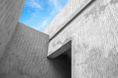 Abstract modern gray concrete architecture fragment Royalty Free Stock Photo