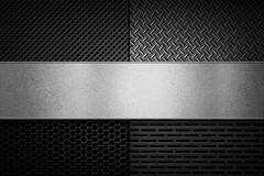 Abstract modern grey perforated metal plate texture Royalty Free Stock Photo