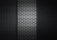 Abstract modern grey perforated metal plate texture Royalty Free Stock Image