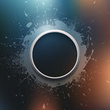 Abstract  modern grunge background. With metal ring Royalty Free Stock Photography