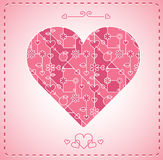 Abstract modern heart background Royalty Free Stock Photos