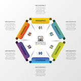 Abstract modern hexagon. Infographic design template. Vector illustration Royalty Free Stock Image