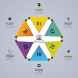 Abstract modern hexagon. Infographic design template. Vector illustration Royalty Free Stock Photo