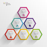 Abstract modern hexagonal infographic. 3d digital illustration Royalty Free Stock Photography