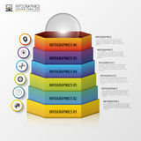 Abstract modern hexagonal infographics. 3d digital illustration. Royalty Free Stock Image