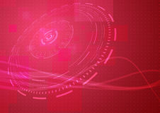 Abstract modern hi-tech background in red colour Stock Images