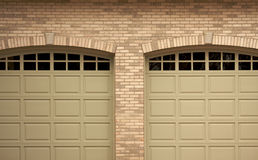 Abstract of Modern Home Garage Doors Royalty Free Stock Image