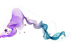 Abstract modern illustration. Beautiful color background with wave and stars Royalty Free Stock Photo