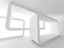 Abstract Modern Interior Architecture Background. 3d Render Illustration Stock Photos