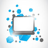 Abstract modern laptop concept vector illustratie