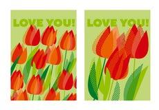 Abstract modern levendig bloemenmotief Stock Fotografie