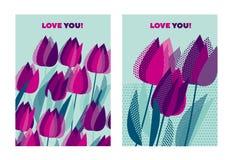 Abstract modern levendig bloemenmotief voor oppervlakteontwerp Koele spri Royalty-vrije Stock Fotografie