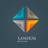 Abstract modern logo design Royalty Free Stock Photo