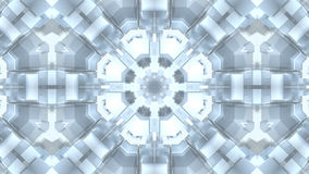 Abstract modern mandala flower particles. 3D rendering Royalty Free Stock Images