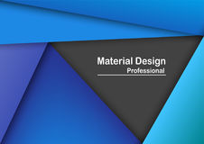 Abstract modern material design background in blue tone. With text space, Template for business presentation. Vector Design Royalty Free Stock Images
