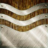 Abstract modern metal glass background Royalty Free Stock Photos
