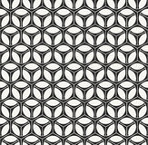 Abstract modern monochrome geometric texture with hexagons Royalty Free Stock Photos