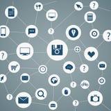 Abstract modern network scheme Stock Photo