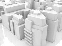 Abstract modern new cityscape, 3d render. Abstract contemporary cityscape, 3d render illustration Stock Photo