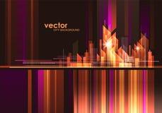 Night City skyline, vector illustration. Abstract modern night City skyline, vector illustration Stock Images