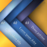 Abstract modern options template Stock Photography