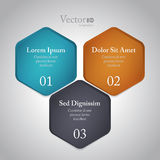 Abstract modern options template Royalty Free Stock Photos