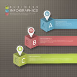 Abstract modern paper location mark infographic elements Stock Photos