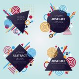 Abstract modern pattern and background in vector. Demonstrates geometric elements, shapes and signs can be used as a banner, brochure or part of the modern info Stock Photography
