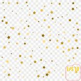 Abstract  modern  pattern with gold stars. Vector illustration. Stock Images