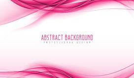 Abstract modern pink wavy smoke background. Amazing geometric vector illustrations with eps10. royalty free illustration
