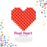 Abstract modern pixel background with love Royalty Free Stock Image