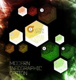 Abstract modern pixel background Royalty Free Stock Images