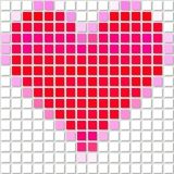 Abstract modern pixelize pink and red heart Royalty Free Stock Photos