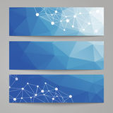 Abstract modern polygonal backgrounds. Stock Photo