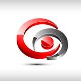 Abstract modern round emblem.. Abstract modern 3d round emblem Stock Photo