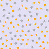 Abstract modern seamless pattern with yellow stars. Starry night Vector illustration. Abstract modern seamless pattern with yellow stars. Starry night Vector Royalty Free Stock Photography