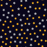 Abstract modern seamless pattern with yellow stars. Starry night Vector illustration. Abstract modern seamless pattern with yellow stars. Starry night Vector Stock Photography