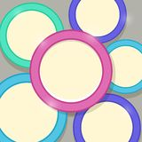Abstract Modern Shiny Card Template with Colorful Rings Royalty Free Stock Photo