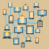 Abstract modern social network Royalty Free Stock Photos